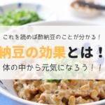 酢納豆,効果